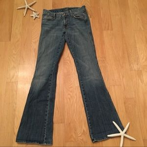 """7 for all man kind """"A"""" pocket jeans size 28"""